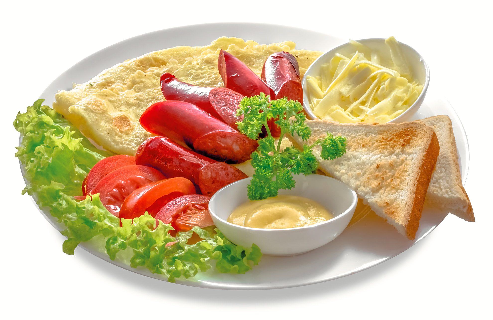 Омлет з ковбасками